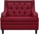 Кресло мягкое Brioli Чикаго (L16/вишневый) -