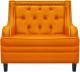 Кресло мягкое Brioli Чикаго (L17/желтый) -