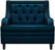 Кресло мягкое Brioli Чикаго (L18/синий) -