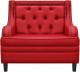 Кресло мягкое Brioli Чикаго (L19/красный) -