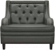 Кресло мягкое Brioli Чикаго (L21/серый) -