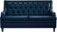 Диван Brioli Чикаго двухместный (L18/синий) -