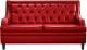 Диван Brioli Чикаго двухместный (L19/красный) -