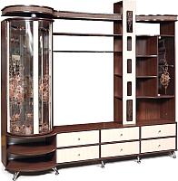 Стенка Мебель-КМК Л 0364.1 левый (орех шоколад/дуб светлый) -