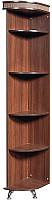 Угловое окончание для шкафа Мебель-КМК Угловая Л 0364.5 левая (орех шоколад/дуб светлый) -