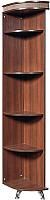 Угловое окончание для шкафа Мебель-КМК Угловая П 0364.6 правая (орех шоколад/дуб светлый) -