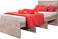Односпальная кровать Мебель-КМК 900 Лондон 2 0478.11 (дуб юккон) -