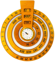 Вечный календарь ЛЭМ Календарь-часы. Круглый год / 5040-1 -