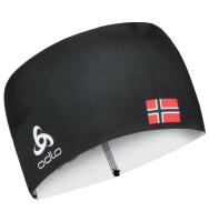 Повязка на голову Odlo W8OWER4HST / 775500-60067 (черный/норвежский флаг) -