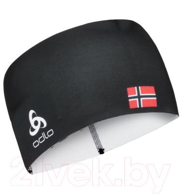 Повязка на голову Odlo W8OWER4HST / 775500-60067 (черный/норвежский флаг)