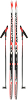 Комплект беговых лыж Madshus DXT001HW15 / A19EMDXT001-HW (р-р 150, красный/белый) -