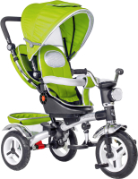 Детский велосипед с ручкой Black Aqua 5899 (зеленый) -