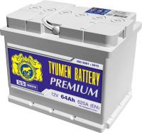 Автомобильный аккумулятор Tyumen Battery Battery Premium L+ / 6СТ-64пп Pr (64 А/ч) -