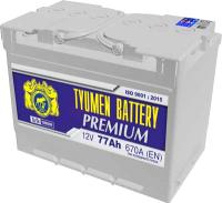 Автомобильный аккумулятор Tyumen Battery Premium R+ / 6СТ-77оп Pr (77 А/ч) -
