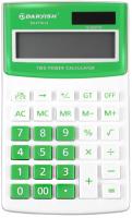 Калькулятор Darvish DV-2716-12N (белый/зеленый) -