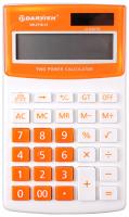 Калькулятор Darvish DV-2716-12Or (белый/оранжевый) -