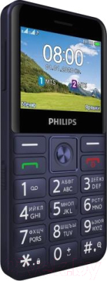 Мобильный телефон Philips Xenium E207 (синий)