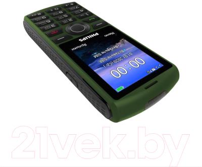 Мобильный телефон Philips Xenium E218 (зеленый)