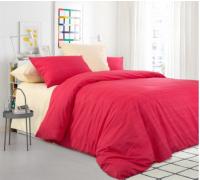 Комплект постельного белья Моё бельё Эко БП 20493/8 Евро (красный) -