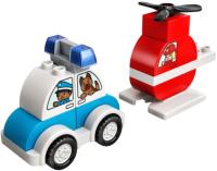 Конструктор Lego Duplo Пожарный вертолет и полицейский автомобиль / 10957 -