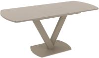 Обеденный стол Listvig Faust 120 (кашемир/капучино) -