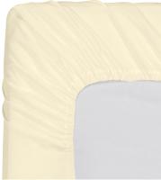Простыня Мерцана Трикотаж 120x200x20 (кремовый) -