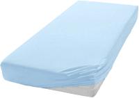 Простыня Мерцана Трикотаж 140x200x20 (голубой) -
