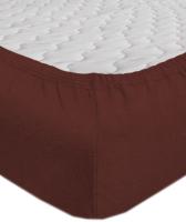 Простыня Мерцана Трикотаж 180x200x20 (шоколадный) -