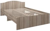 Полуторная кровать Комфорт-S Доминик New М7 140 (ясень шимо светлый/ясень шимо темный) -