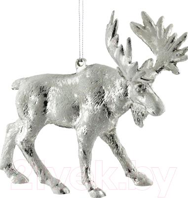 Елочная игрушка Erich Krause Decor Лось серебряный / 47803