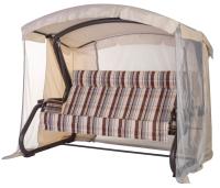 Качели садовые Удачная мебель Толедо с подголовником (шоколад 345) -