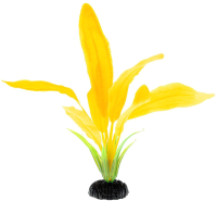 Декорация для аквариума Barbus Эхинодорус / Plant 051/20 (желтый) -