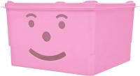 Ящик для хранения Полимербыт Улыбка 830-83000 (розовый) -