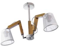 Потолочный светильник Aitin-Pro НПБ K133/2 (белый/хром) -
