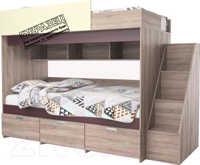 Двухъярусная кровать детская Мебель-КМК Бамбино 3-1 0527