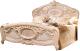 Двуспальная кровать Мебель-КМК Розалия 0456.1 (дуб молочный) -