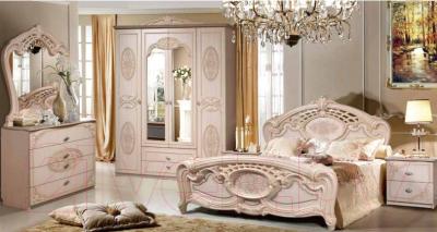 Двуспальная кровать Мебель-КМК Розалия 0456.1 (орех экко)