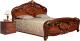 Двуспальная кровать Мебель-КМК Розалия 0456.1 (орех экко) -
