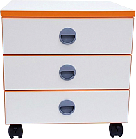 Тумба Comf-Pro Trio 2 (белый/оранжевый декор) -