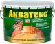 Защитно-декоративный состав Акватекс 10л (рябина) -