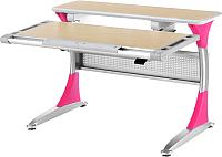 Парта Comf-Pro Harvard (клен/розовый) -