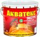Защитно-декоративный состав Акватекс Экстра (3л, рябина) -