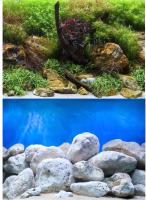 Декорация для аквариума Barbus Водный сад. Яркие камни / Background 017 -