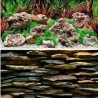Декорация для аквариума Barbus Каменная стена. Дикая вода / Background 026 -