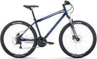 Велосипед Forward Sporting 27.5 3.0 Disc / RBKW1MN7Q018 (17, темно-синий/серый) -