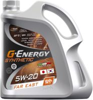 Моторное масло G-Energy Synthetic Far East 5W20 / 253142528 (4л) -