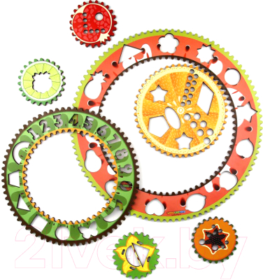 Развивающая игрушка WoodLand Toys Спирограф для рисования. Фрукты / 122108