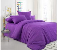 Комплект постельного белья Моё бельё Евро Эко 11983/3 (фиолетовый) -