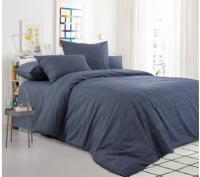 Комплект постельного белья Моё бельё Евро Эко 20493/7 (графит) -