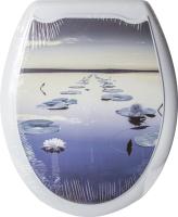 Сиденье для унитаза Europlast Кувшинки 104-406-12 (жесткое) -